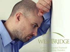 Anxiety Depression Upset Man Leaning On Wall.WBBlog2